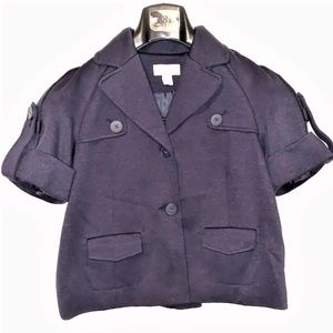 ANN TAYLOR LOFT  Short Sleeve Pea Coat/Blazer